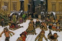 Zille, Heinrich  Zille  Joys of Winter  Berlin  1911