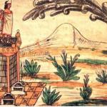 sovrano-azteco-montezuma-ii-lavvistamento-della-cometa-intorno-al-1519-disegno-di-diego-duran-1579