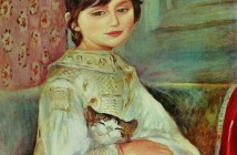 1 Bambina con gatto (Julie Manet) Pierre Auguste Renoir