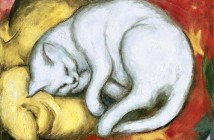 1 Gatto su cuscino giallo - Franz Marc