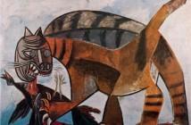 6 Pablo Picasso, Gatto mangia un uccello, 1939
