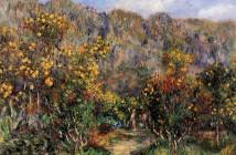 Pierre Auguste Renoir - Landscape-with-mimosas-1912