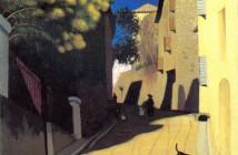 Felix Vallotton (1865 -1925) - Strada con mimosa