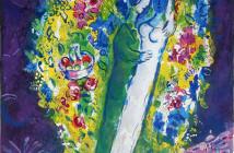 Marc Chagall - Coppia nella mimosa (1967)
