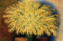 Moise Kisling - Grand bouquet de mimosas 1942