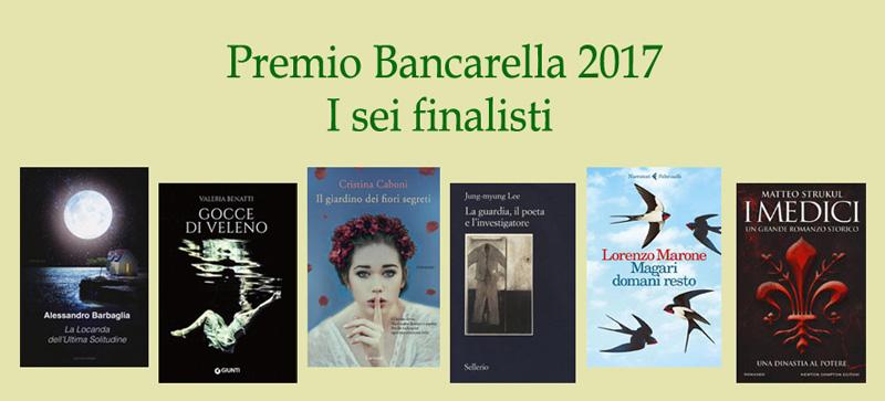 Premio Bancarella i 6 finalisti 2017