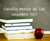 Classifica mensile dei libri – Settembre 2019