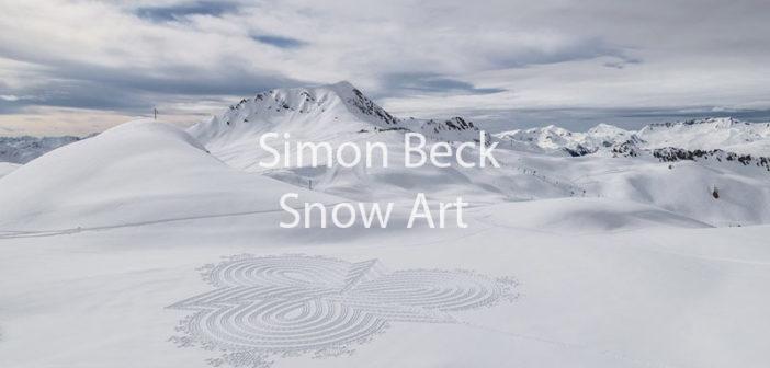 La Snow Art di Simon Beck